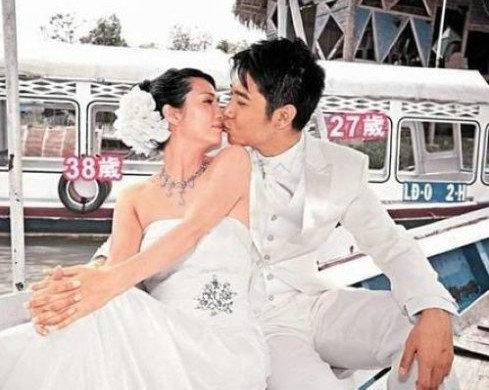 北上结婚的港台明星 女星嫁富豪 男星娶嫩妻 图