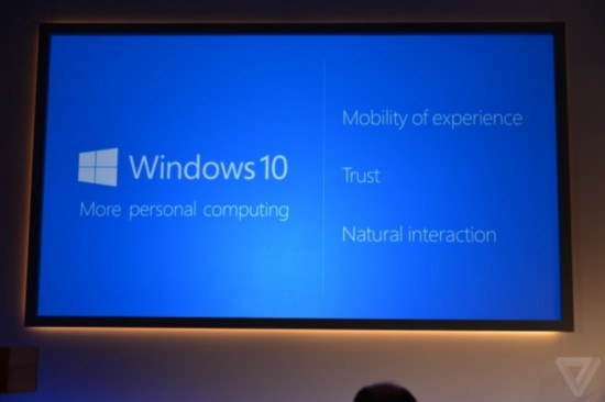 微软发布Windows 10:统一PC手机Xbox 面向Windows 7免费升级