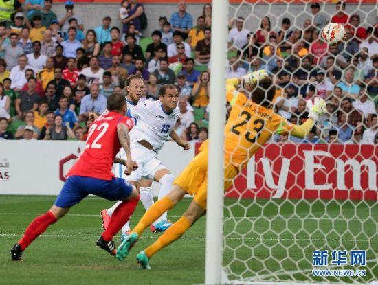 (亚洲杯)(1)足球――四分之一决赛:韩国晋级四强