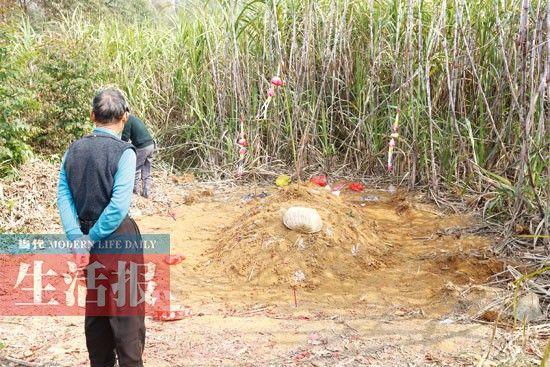 武鸣64岁老妇4天内两次离世 被葬入土中又被挖出