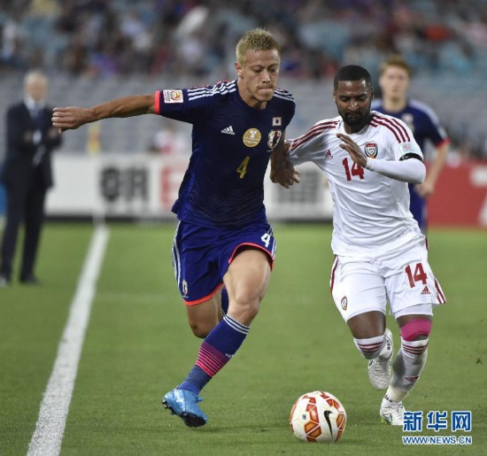 (亚洲杯)(5)足球――四分之一决赛:阿联酋淘汰日本