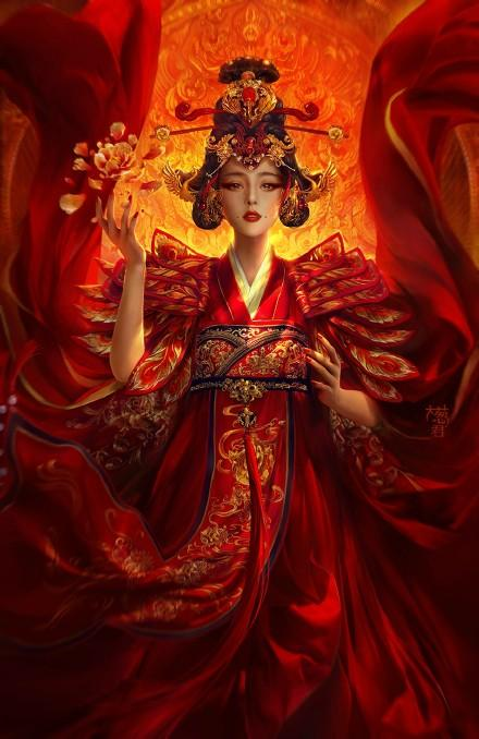 Asian Art Painting Fire