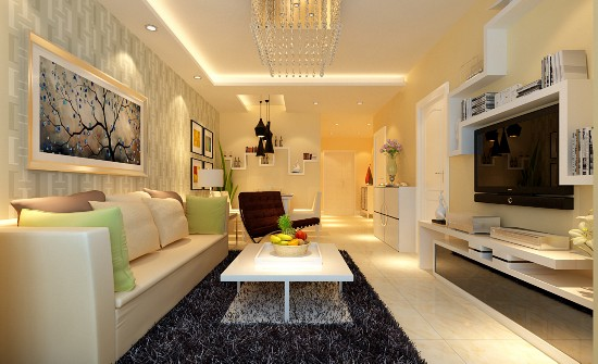 碧桂园温泉小区二期-二居室-89.00平米-装修设计