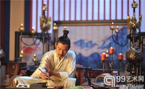 《武媚娘传奇》中唐太宗写字
