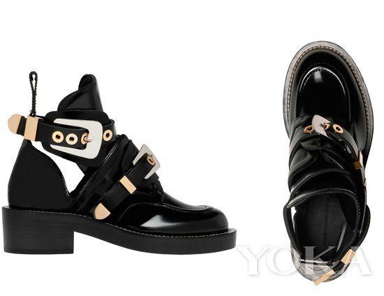 Balenciaga 最火镂空及踝靴