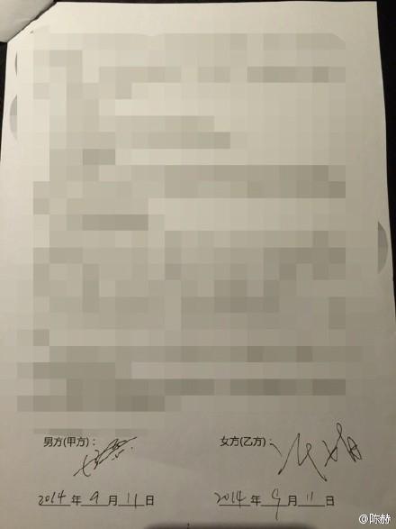 协议书签字