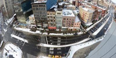 纽约大雪致华埠恍如空城正常营业餐馆不足五成