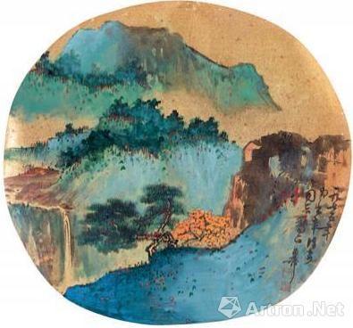 陳佩秋1975年合作的《秋山圖》