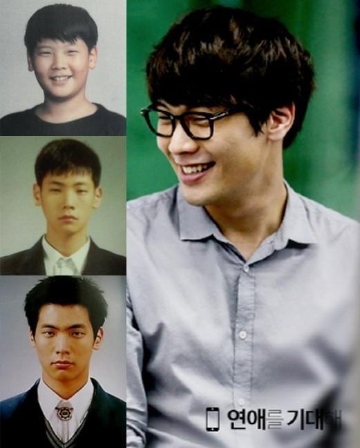 图揭韩国男神容貌进化论:金宇彬幼年照难辨认