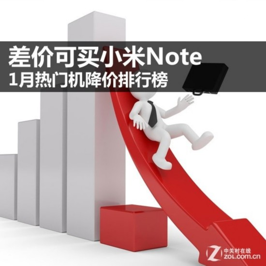 差价可买小米Note 1月热门机降价排行榜