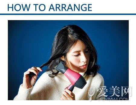 步骤图解:     step 1:稍微喷上定性产品,然后将中发分成一小束头