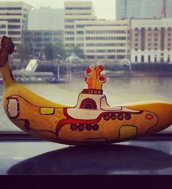 英女主厨绘制香蕉艺术品登时尚杂志获好评