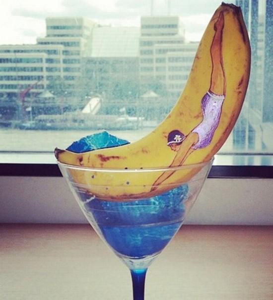 英女主厨绘制香蕉艺术品登时尚杂志获好评【4】