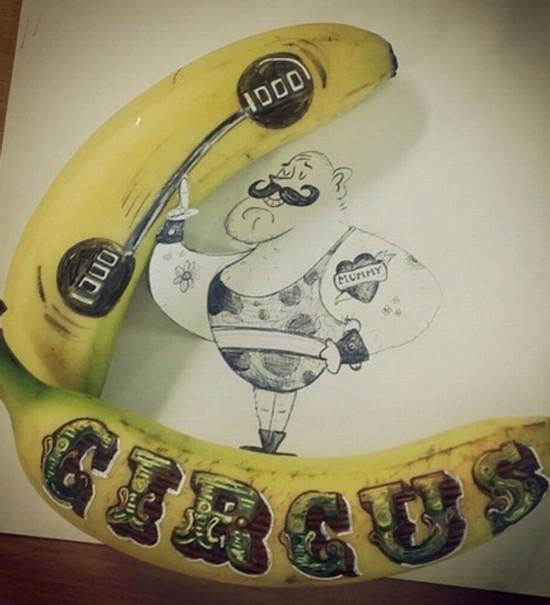 英女主厨绘制香蕉艺术品登时尚杂志获好评【8】