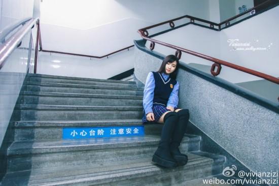 厦门最美网名女生就读被保送上海高校走红校服情侣女生图片