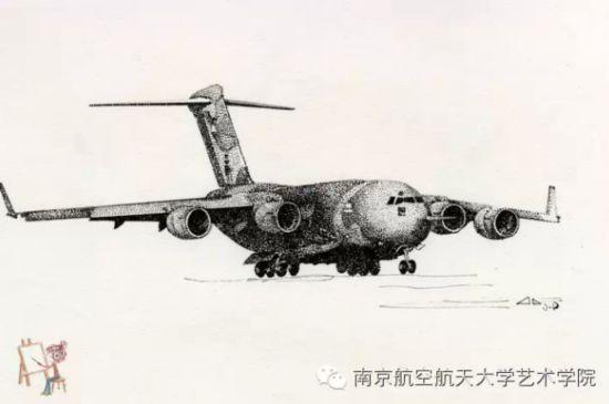 南航女生手绘飞机惊艳网友
