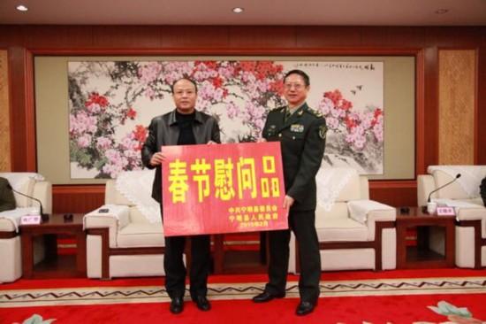 刘勇率队到南宁开展春节慰问活动