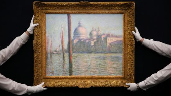 印象派大师莫奈画作拍卖拍出8400万美元高价(图)