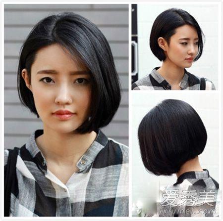 发尾修剪出尖尖的弧度出来紧贴脸_发型设计图片