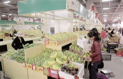 三亚农副产品批发中心营业 鸿港市场搬至此