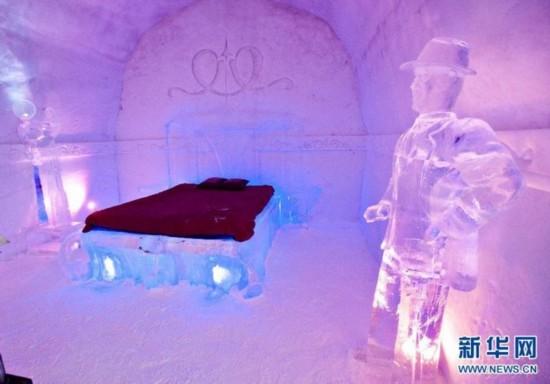 高清:童话王国!魁北克的冰雪酒店