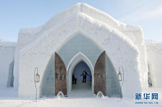 高清:童话王国!魁北克的冰雪酒店【2】