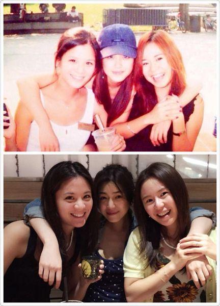 陈妍希晒十年前后闺蜜合照 网友赞叹女神童颜冻龄