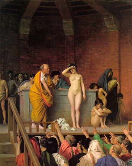 让-莱昂・热罗姆《拍卖奴隶》