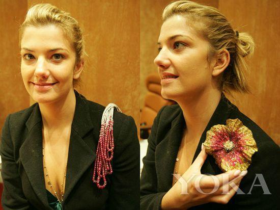 Moussaieff钻石缅甸红宝石肩饰和Moussaieff花型胸针