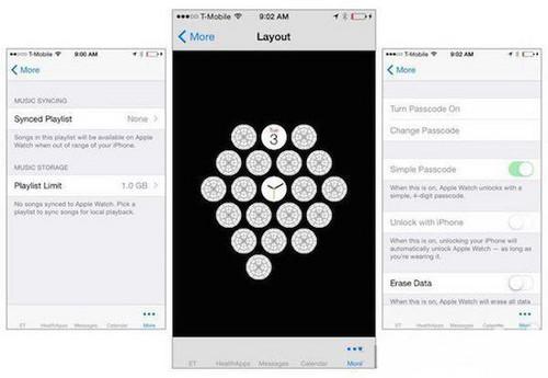 选项复杂多样 Apple Watch设置界面曝光