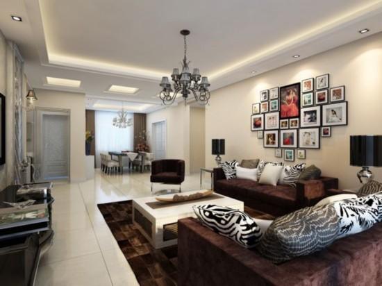 客厅装修效果图   项目名称:翠林漫步   建筑面积:140平米   房屋类型