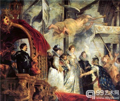 马赛港登陆 鲁本斯 佛兰德斯 394cm×295cm 现藏于慕尼黑美术陈列馆