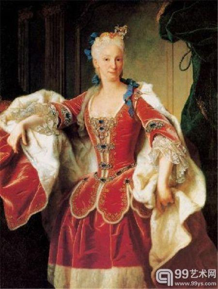伊莎贝拉 法尔内塞皇后 法国 朗克 布上油画 纵144×横115厘米 马德里普拉多博物馆藏