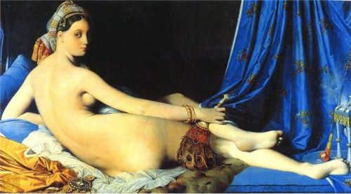 油画,人体, 纵91厘米, 横162厘米 ,作于1814年,藏于巴黎卢浮宫