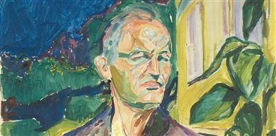 爱德华・蒙克(1863年12月12日-1944年1月23日),挪威表现主义画家和版画复制匠,本图是他的自画像。