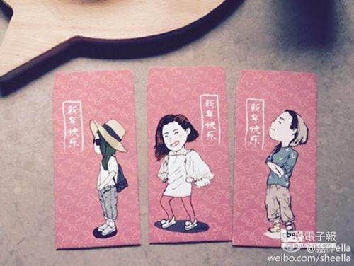 Ella晒SHE版红包袋:Selina甜美Hebe耍酷(图)