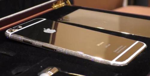 """真正""""土豪""""iPhone6:黄金打造镶大量钻石(图)"""