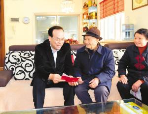 孙政才走访慰问劳模、老党员和困难党员群众