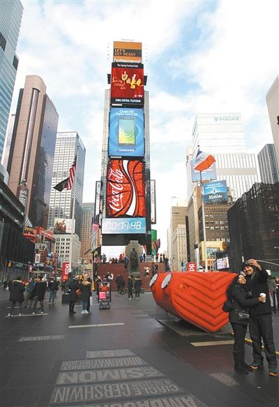纽约时代广场羊-宣传片首次亮相纽约时报广场