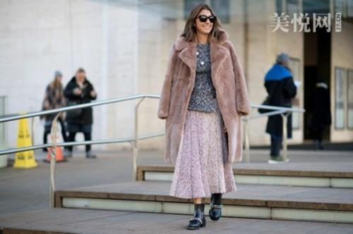 Look纽约时装周街拍 学达人时髦外套搭配