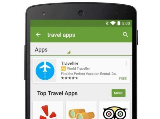 谷歌将尝试在Google Play商店投放广告