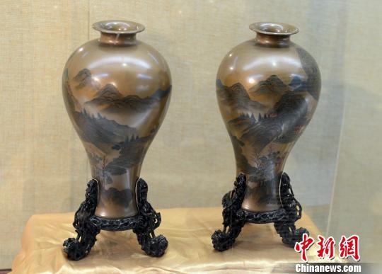 福州漆艺传世和海外回流珍品展启幕(图)