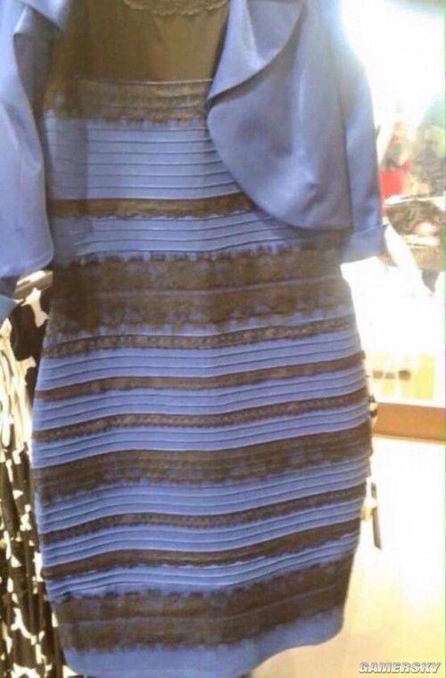 """""""蓝黑白金""""裙子引发热议 到底是你瞎还是我瞎"""