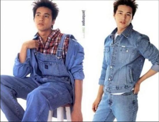 李晨 揭明星们最想删掉的照片 元斌青涩旧照曝光代言牛仔服饰广告照