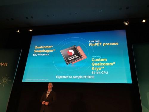 骁龙820亮相:搭载自主64位八核Kryo CPU