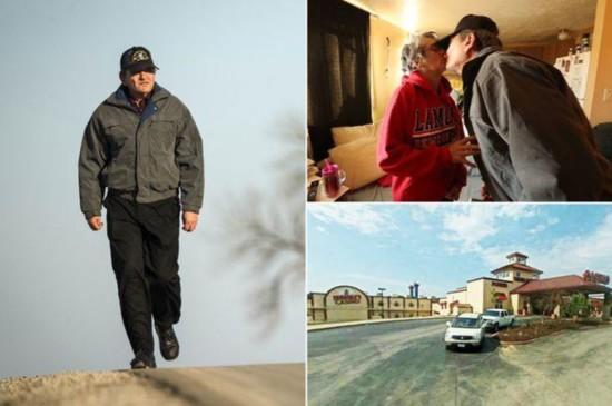 美国六旬老汉为救妻日行56公里跨市打工。