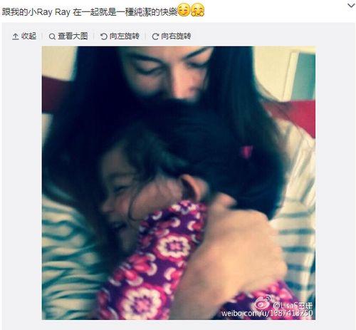 吴彦祖妻子晒与女儿合照爱女在怀中开心大笑(图)