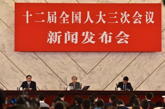 十二屆全國人大三次會議發布會。人民網記者 翁奇羽/攝影