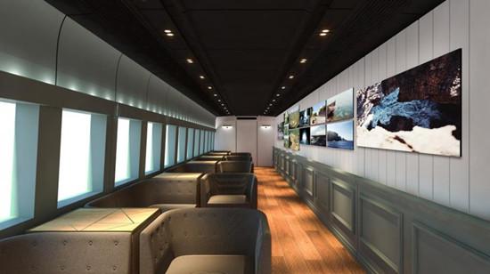 日本上越新干线启用美术列车艺术随列车飞驰