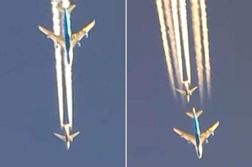 两架客机于万米高空上演追逐大戏场面惊险(图)